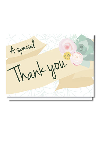 Floaty Banner Thank You Card