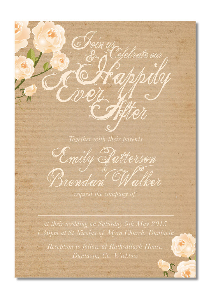 Design Our Day Happily Ever After Wedding Invitation – Design Our ...