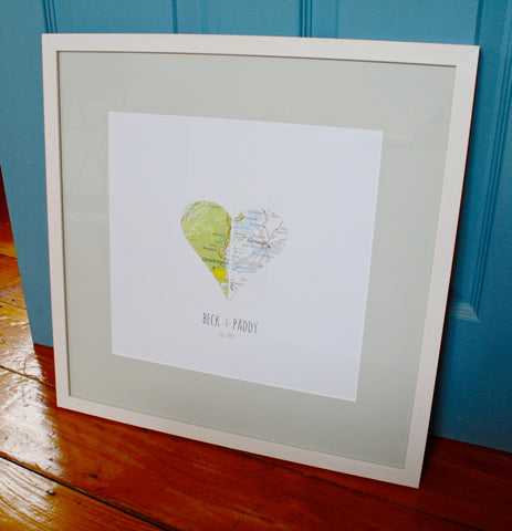Heart Map Prints