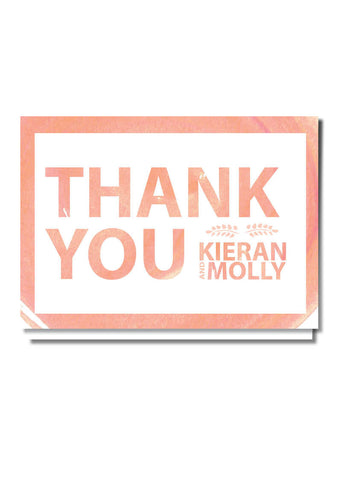 Peachy Keen Thank You Card