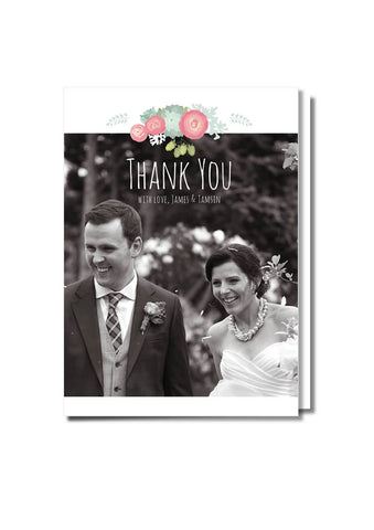 Floral Feature Thank You Card