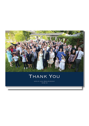 Timeless Navy Thank You Card