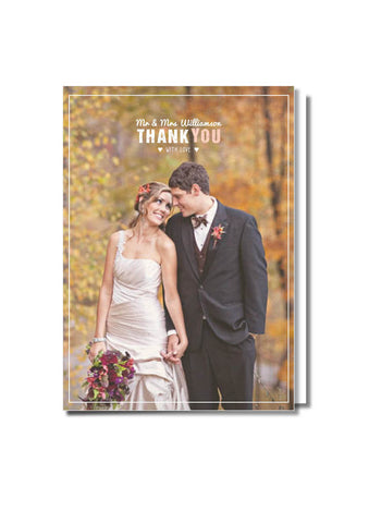 Mr & Mrs Thank You Card