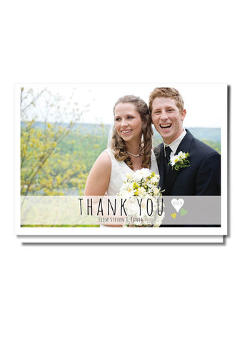 Floaty Hearts Thank You Card