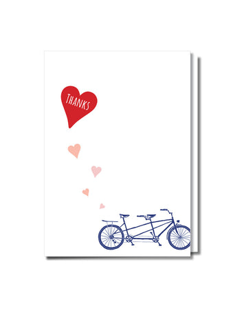 Riding Tandem Thank You Card