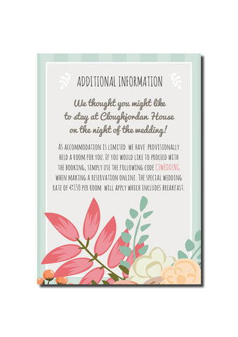 Rustic Country Guest Information Card