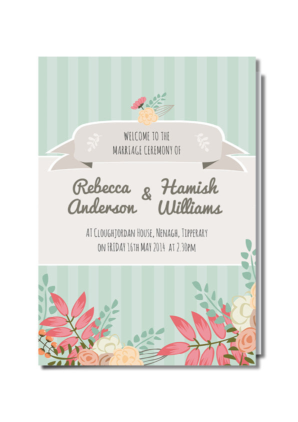 Rustic Country Ceremony Booklet