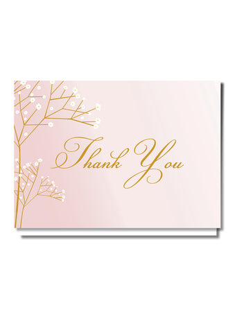 Pretty In Pink Thank You Card