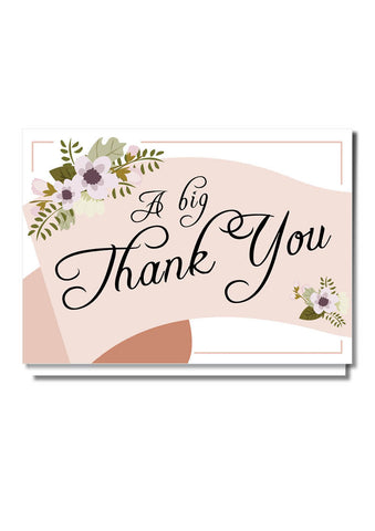 Scroll Banner Thank You Card