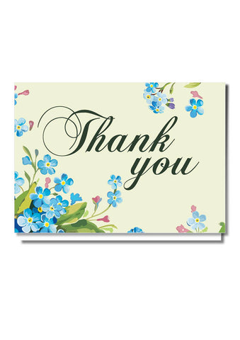 Secret Garden Thank You Card