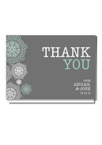 Vintage Snowflake Thank You Card