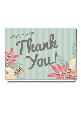 Rustic Country Thank You Card