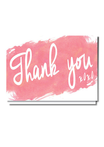 Watercolour Wonder Thank You Card