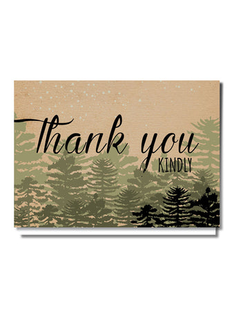 Woodland Wonder Thank You Card