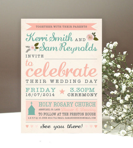 Invitation Samples - 11 styles instock
