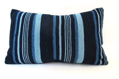Indigo Striped Pillow No. 5 - The Loaded Trunk