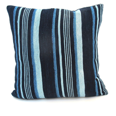 Indigo Striped Pillow No. 4 - The Loaded Trunk