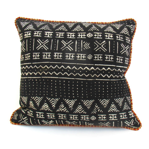 Mud Cloth Square Pillow No. 8 - The Loaded Trunk