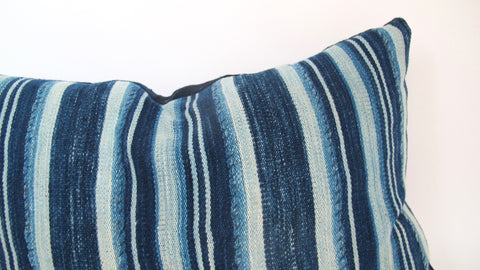 Indigo Striped Pillow No. 14 - The Loaded Trunk
