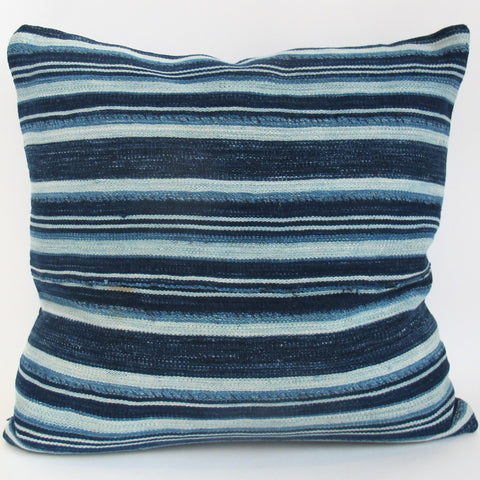 Indigo Striped Pillow No. 13 - The Loaded Trunk