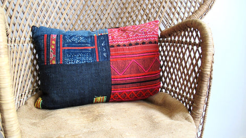 Hmong Patchwork Pillow No. 6 - The Loaded Trunk