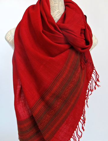 Silk & Wool Scarf No. 9 - The Loaded Trunk