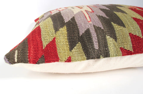 Vintage Anatolian Kilim Wool Rug Pillow No. 18 - The Loaded Trunk