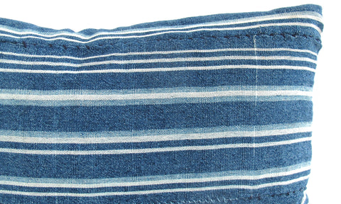 Indigo Striped Pillow No. 22 - The Loaded Trunk