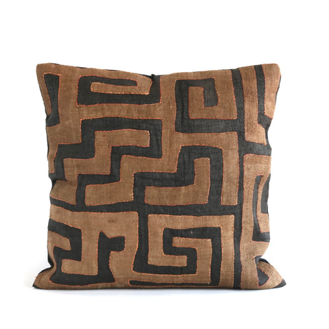 Appliqué Kuba Cloth Pillow No. 22 - The Loaded Trunk