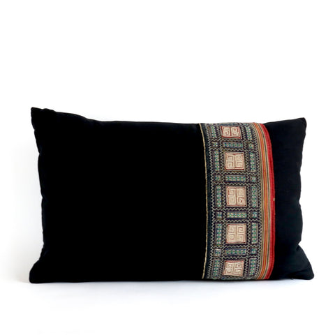 Vintage Tribal Textile Pillow No. 1 - The Loaded Trunk