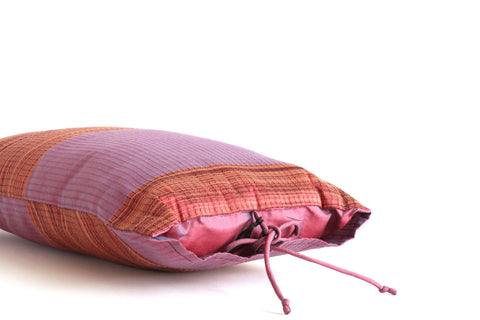 Thai Silk Ribbon Tie Pillow No. 2 - The Loaded Trunk