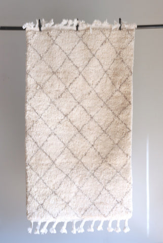 Beni Ourain Rug  - Pale Gray - The Loaded Trunk