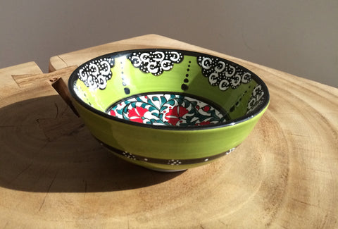 Turkish Hand Painted Ceramic Bowls - The Loaded Trunk