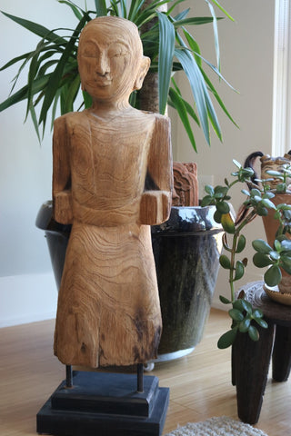 Teak Man on Stand - The Loaded Trunk