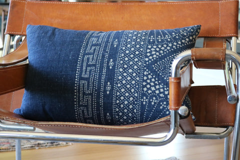 Hill Tribe Indigo Batik Pillow No. - The Loaded Trunk