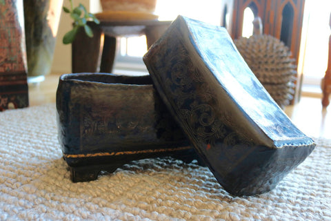 Vintage Burmese Lacquer Box No. 1 - The Loaded Trunk