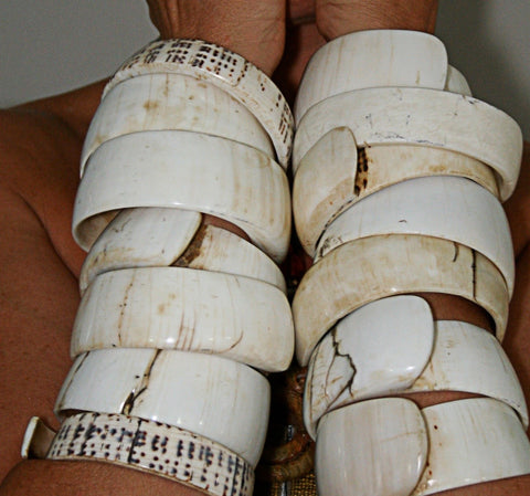 Vintage Shell Bracelet/Arm Piece No. 10 - The Loaded Trunk