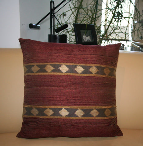 Rust Silk Ikat Pillow - The Loaded Trunk