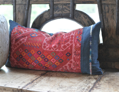 Vintage Huipil Pillow No. 1 - The Loaded Trunk