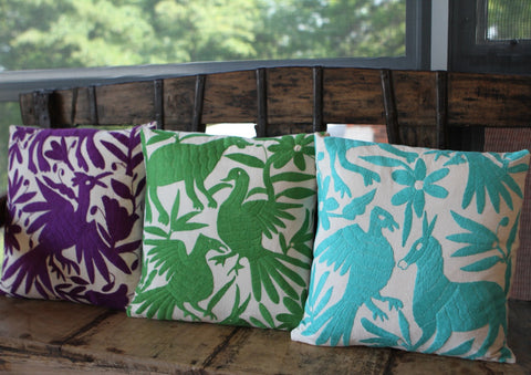Otomi Pillows - Kelly Green - The Loaded Trunk