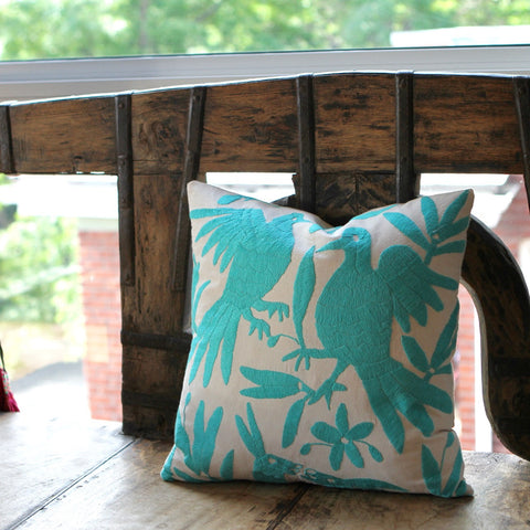 Otomi Pillows - Teal - The Loaded Trunk