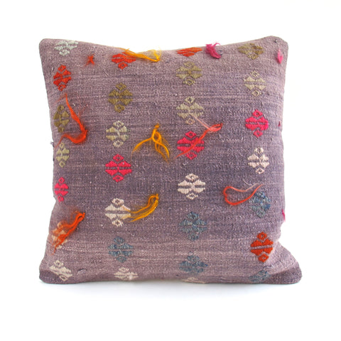 Purple Kilim Pillow No. 10 - The Loaded Trunk