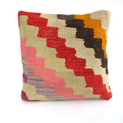 Zig Zag Kilim Pillow No. 1 - The Loaded Trunk