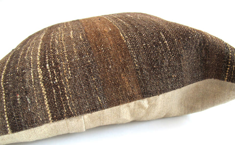 Vintage Anatolian Kilim Wool Rug Pillow No. 7 - The Loaded Trunk