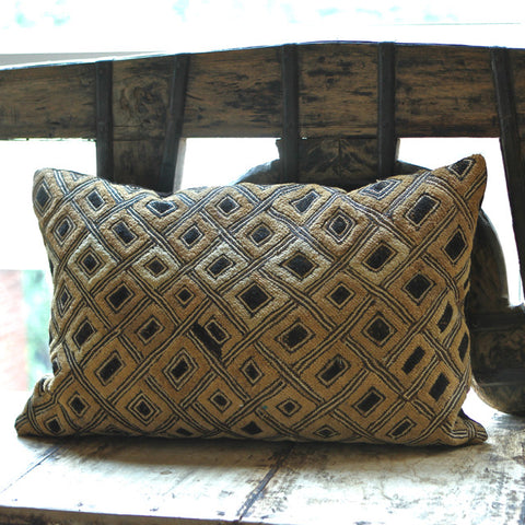 Kuba Pillow - Shoowa Raffia No. 3 - The Loaded Trunk