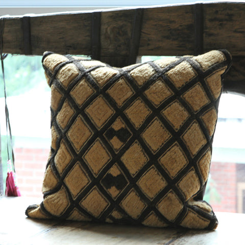 Kuba Pillow - Shoowa Raffia No. 1 - The Loaded Trunk