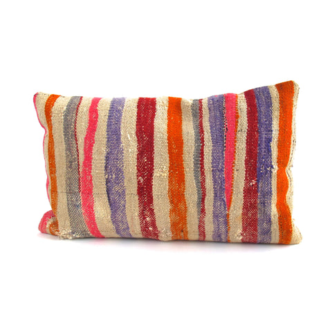 Stripe Kilim Pillow No. 10 - The Loaded Trunk
