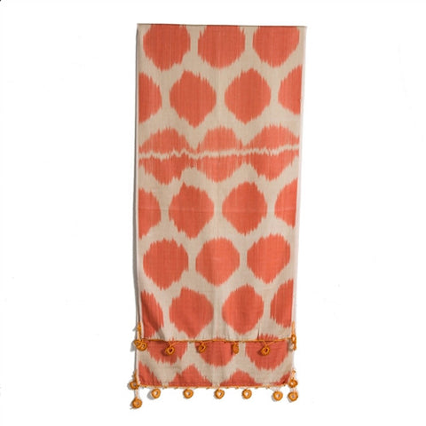 Ikat Scarf With Oya Lace No. 5 - The Loaded Trunk