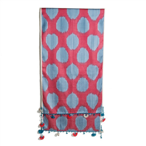 Ikat Scarf With Oya Lace No. 10 - The Loaded Trunk