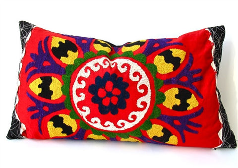 Vivid Florals Suzani Pillow No. 1 - The Loaded Trunk